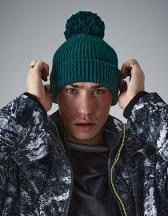 Engineered Knit Ribbed Pom Pom Beanie